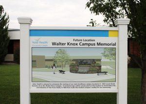 Walter Knox Memorial Sign