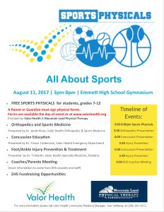 Free Athletics Physicals