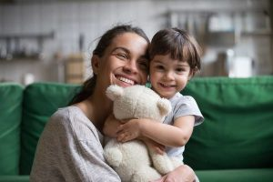 Woman with child, showing that your behavioral health is important.